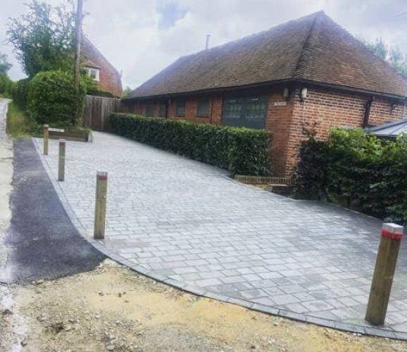 new driveway installed at hastings